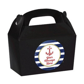 Nautical Personalized Favor Boxes (Set of 24)
