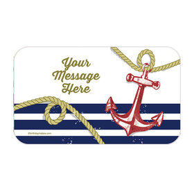 Nautical Personalized Rectangular Stickers (18 Stickers)