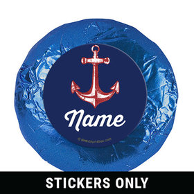 "Nautical Personalized 1.25"" Stickers (48 Stickers)"