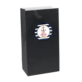 Nautical Personalized Paper Favor Bags (set of 12)