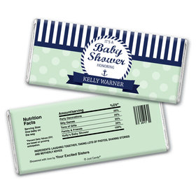 Sailor Shower Personalized Candy Bar - Wrapper Only