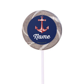 "Nautical Personalized 2"" Lollipops (24 Pack)"