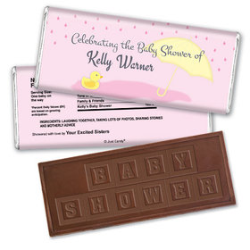 Rain Showers Personalized Embossed Chocolate Bar Assembled