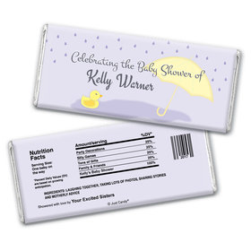 Rain Showers Personalized Candy Bar - Wrapper Only