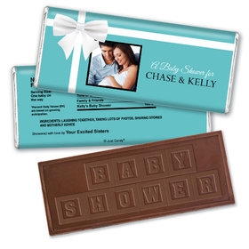 All Wrapped Up Personalized Embossed Chocolate Bar Assembled