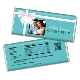 Baby Shower Personalized Chocolate Bar Tiffany Theme Present Photo