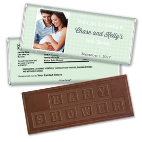 Perfectly Patterned Personalized Embossed Chocolate Bar Assembled