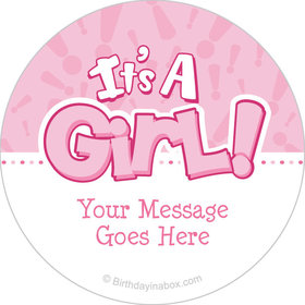 "Twinkle Girl Personalized 2"" Stickers (20 Stickers)"
