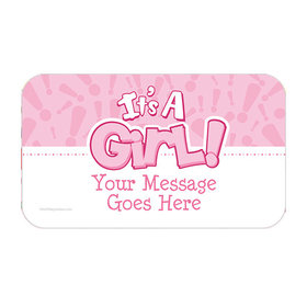 Twinkle Girl Personalized Rectangular Stickers (18 Stickers)