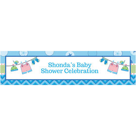 Personalized Shower with Love Boy Banner