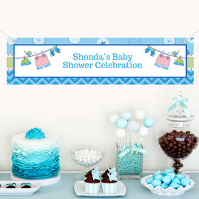 Personalized Shower with Love Boy 5 Ft. Banner