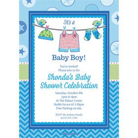 Shower with Love Boy Personalized Invitation