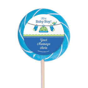 "Shower with Love Boy Personalized 3"" Lollipops (12 Pack)"