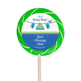 """Shower with Love Boy Personalized 3"""" Lollipops (12 Pack)"""