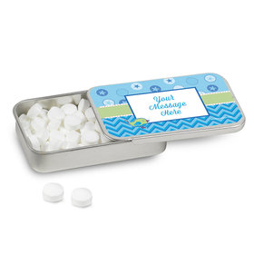 Personalized Shower With Love Boy Baby Shower Mint Tin (12 Pack)