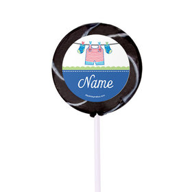 "Shower with Love Boy Personalized 2"" Lollipops (24 Pack)"