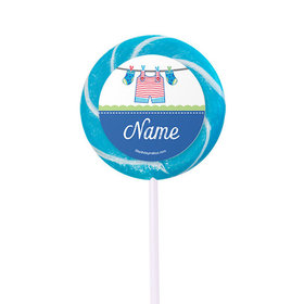 """Shower with Love Boy Personalized 2"""" Lollipops (24 Pack)"""