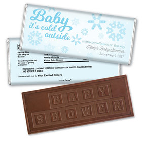 Baby Blizzard Personalized Embossed Chocolate Bar Assembled
