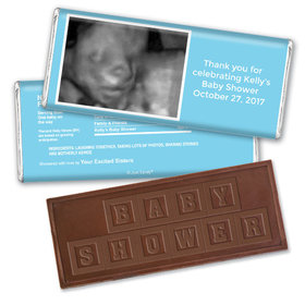 Sonogram Snapshot Personalized Embossed Chocolate Bar Assembled