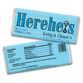 HEREHEIS Bundle of Joy Personalized Hershey's Bar Assembled