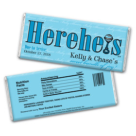 HEREHEIS Bundle of Joy Personalized Candy Bar - Wrapper Only