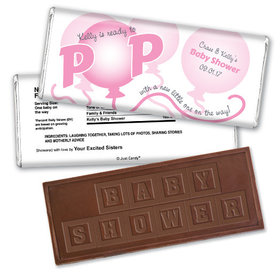 About to Pop Personalized Embossed Chocolate Bar Assembled