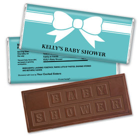 Bow Baby Personalized Embossed Chocolate Bar Assembled