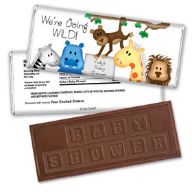 Zoo Shower Personalized Embossed Chocolate Bar Assembled