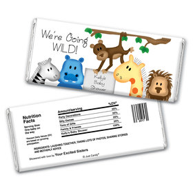 Zoo Shower Personalized Candy Bar - Wrapper Only