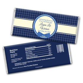 Baby Bowtie Personalized Candy Bar - Wrapper Only