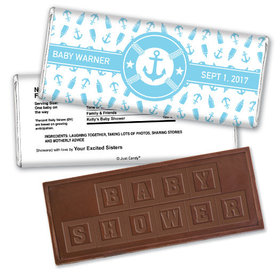 Personalized Baby Shower Embossed Chocolate Bar & Wrapper