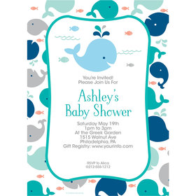 Little Spout Blue Personalized Invitation