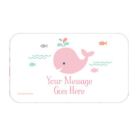 Little Spout Pink Personalized Rectangular Stickers (18 Stickers)
