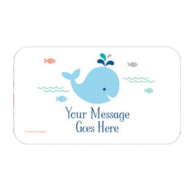 Little Spout Blue Personalized Rectangular Stickers (18 Stickers)