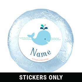 "Little Spout Blue Personalized 1.25"" Stickers (48 Stickers)"