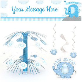 Baby Shower Decorating Kit - Baby Elephant Blue
