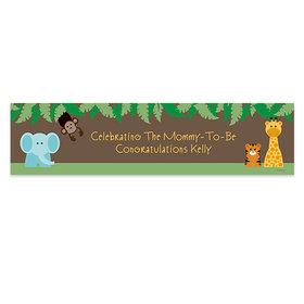 Personalized Baby Shower Jungle Safari Banner