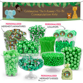 Personalized Baby Shower Jungle Safari Deluxe Candy Buffet