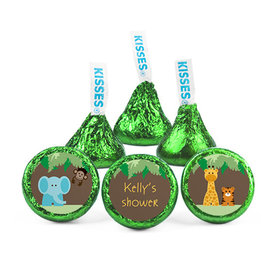 Personalized Baby Shower Jungle Animals Hershey's Kisses (50 pack)