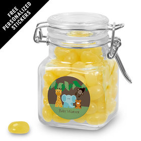 Baby Shower Personalized Latch Jar Jungle Safari Animals (12 Pack)