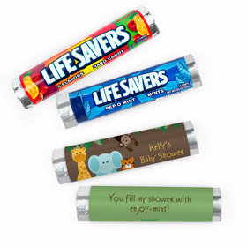 Personalized Baby Shower Jungle Safari Lifesavers Rolls (20 Rolls)