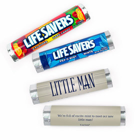 Personalized Baby Shower Little Man Lifesavers Rolls (20 Rolls)