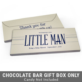 Deluxe Personalized Little Man Baby Shower Candy Bar Favor Box