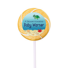 Baby Shower Personalized Small Swirly Pop Ocean Bubbles (24 Pack)