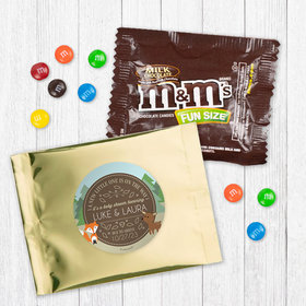 Personalized Baby Shower Forest Friends - Milk Chocolate M&Ms