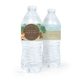 Personalized Baby Shower Forest Friends Water Bottle Sticker Labels (5 Labels)