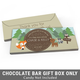 Deluxe Personalized Forest Friends Baby Shower Candy Bar Favor Box