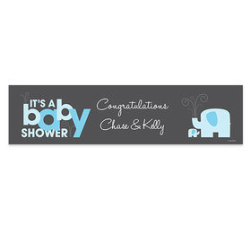 Personalized Baby Shower Elephants Banner