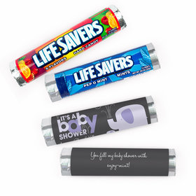 Personalized Baby Shower Elephant Lifesavers Rolls (20 Rolls)