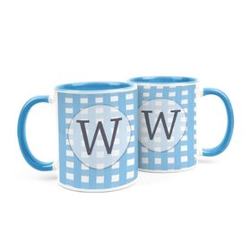 Personalized Baby Shower Checkered Pattern 11oz Mug